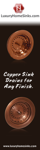 Luxury Home Sinks - Copper Sink Drains for Any Finish